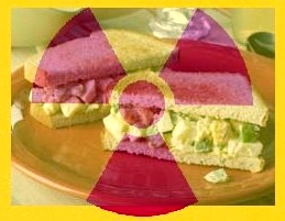Radioactive egg salad sandwich