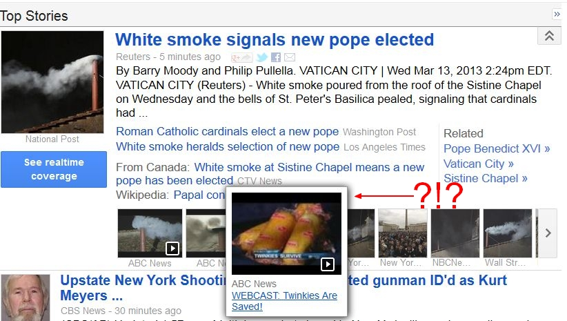 New Pope saves Twinkies