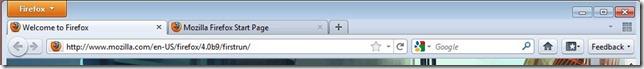 Firefox 4 UI original