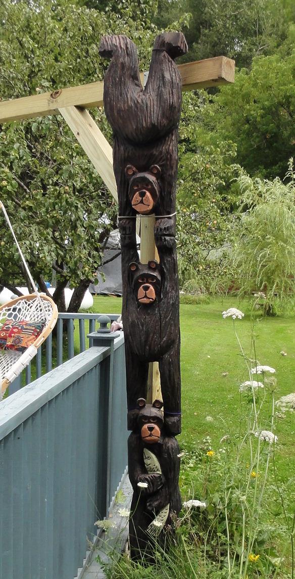 Bear Totem Pole
