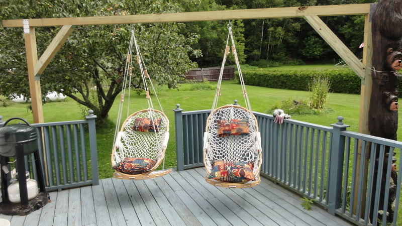 Hammock Chairs and Totem Poles